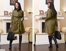 Пальто женское с поясом. Размер 48-50, 52-54, 56-58, 60-62. Ткань кашемир