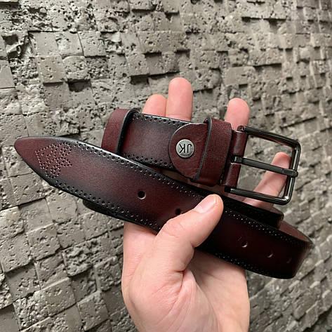 Ремень I&M Craft из натуральной кожи коричневый (R100113), фото 2