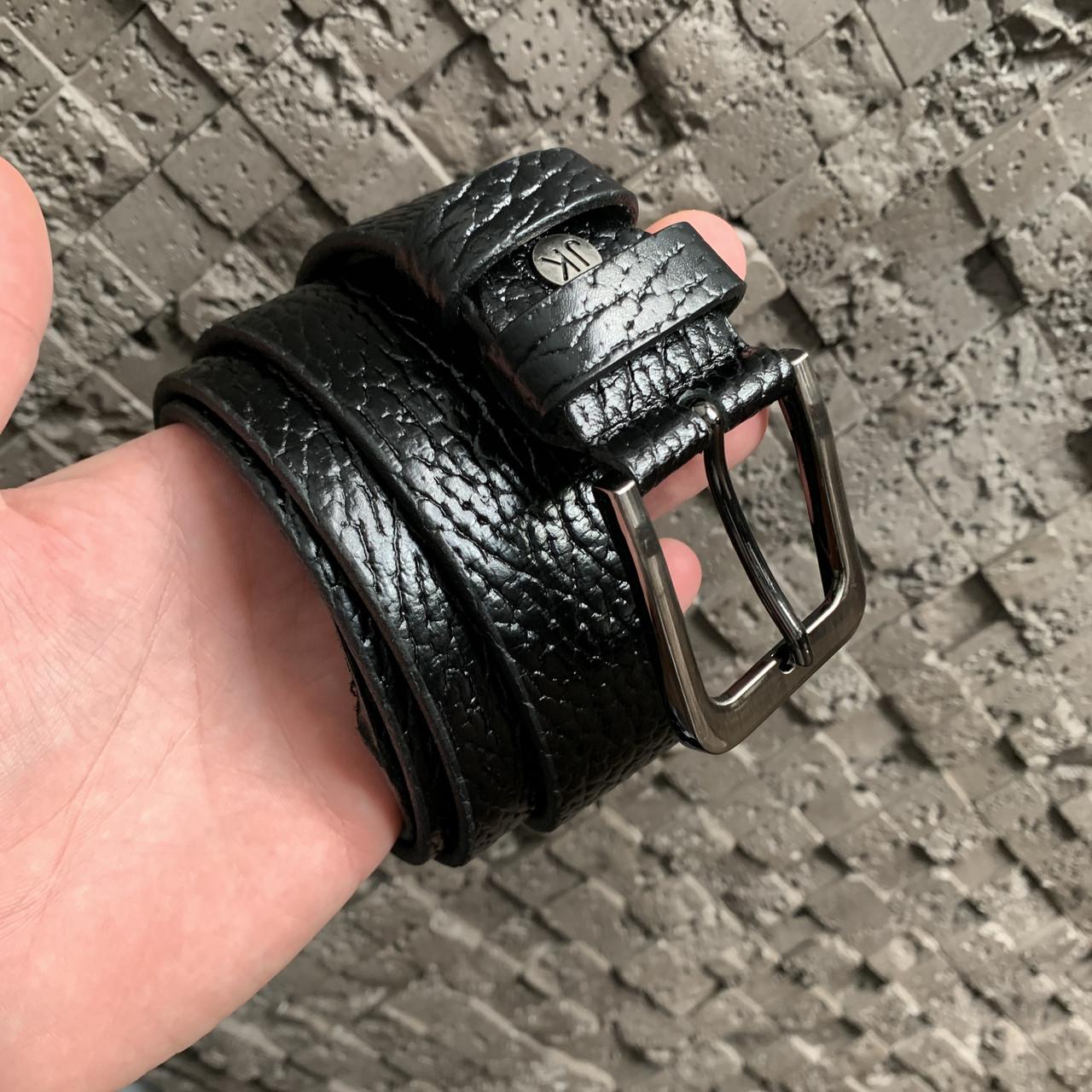 Ремень I&M Craft из натуральной кожи черный (R100115)