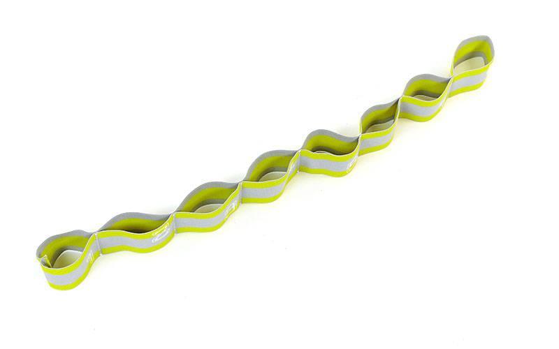 Ленточный эспандер-эластичная лента с петлями Elastiband (полиэстер, эластан, 4х75см, лимонный)