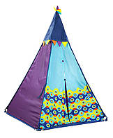 Игровая палатка-вигвам - ФИОЛЕТОВЫЙ ТИПИ (свет, 100х100х140 см), фото 1