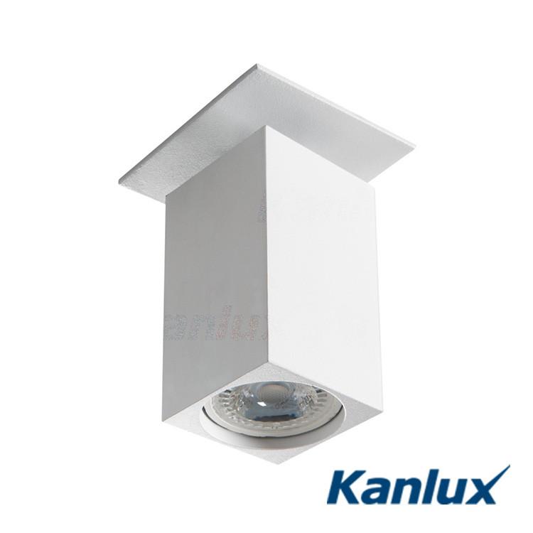 Світильник точковий поворотний Kanlux CHIRO DTL-W GU10, алюміній
