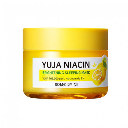 Ночная осветляющая маска Some by mi  Yuja Niacin Brightening Sleeping Mask, 60г, фото 2