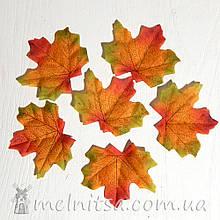 Лист клена 8 см, трехцветный