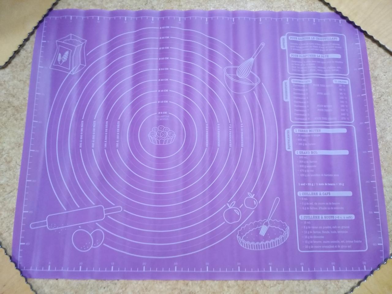 Силіконовий килимок для розкочування тіста. 50*40см