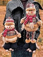 """Новорічна прикраса фігурка під ялинку """" Сніговик з висувними ногами"""