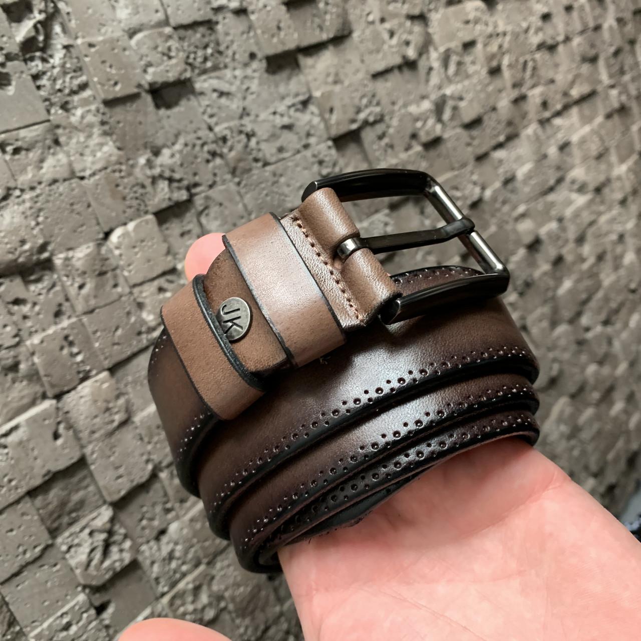 Ремень I&M Craft из натуральной кожи коричневый (R100116)