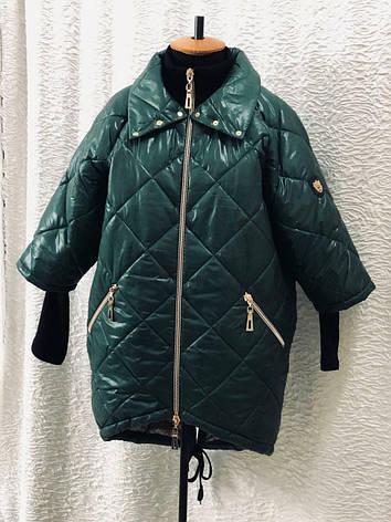 Демісезонна стильна куртка великих розмірів, фото 2