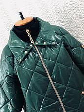 Демисезонная стильная куртка больших размеров, фото 3