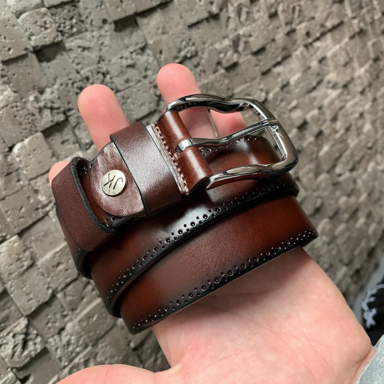 Ремень I&M Craft из натуральной кожи коричневый (R100120)