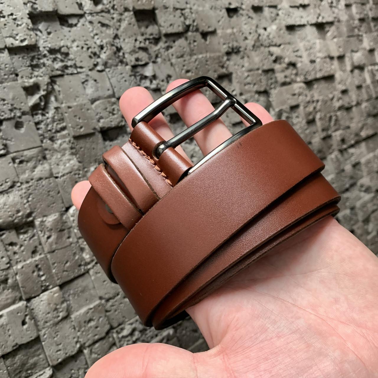 Ремень I&M Craft из натуральной кожи коричневый (R100121)