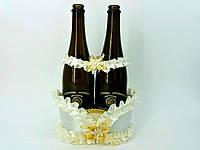 Свадебная корзинка для шампанского айвори