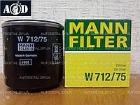 Фильтр масляный Chevrolet Lacetti 2005-->2014 Mann (Германия) W 712/75