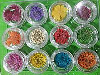 Декор для дизайна ногтей Сухоцветы набор 12шт