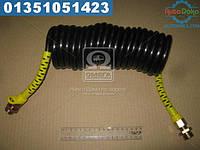 ⭐⭐⭐⭐⭐ Шланг витой пневматический спиральный М 22х1,5 L=5м (жёлтый)  М 22х1,5-5 МЖ