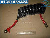 ⭐⭐⭐⭐⭐ Шланг витой пневматический спиральный М 22х1,5 L=5м (красный)  М 22х1,5-5 МК