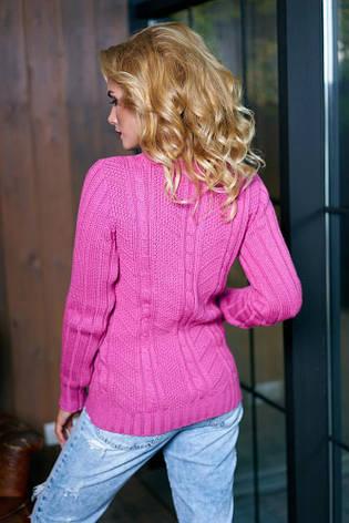 Красивый женский свитер малинового цвета, фото 2
