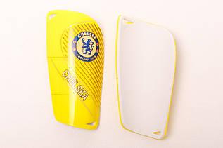 Щитки футбольные Челси желтые
