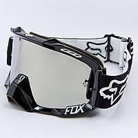 Мотоочки FOX  прозрачный визор (акрил, пластик, PL, эластан, цвет оправы черный)