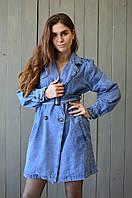 Женское платье плащ из джинса