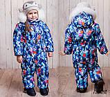 Детский очень теплый и красивый зимний комбинезон девочка+мальчикрост 86-110 (6расцв.), фото 2