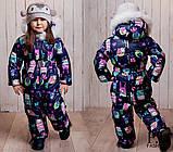Детский очень теплый и красивый зимний комбинезон девочка+мальчикрост 86-110 (6расцв.), фото 6