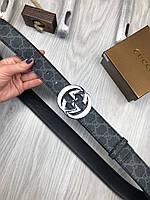 Ремень брендовый мужской женский кожа GUCCI реплика премиум копия