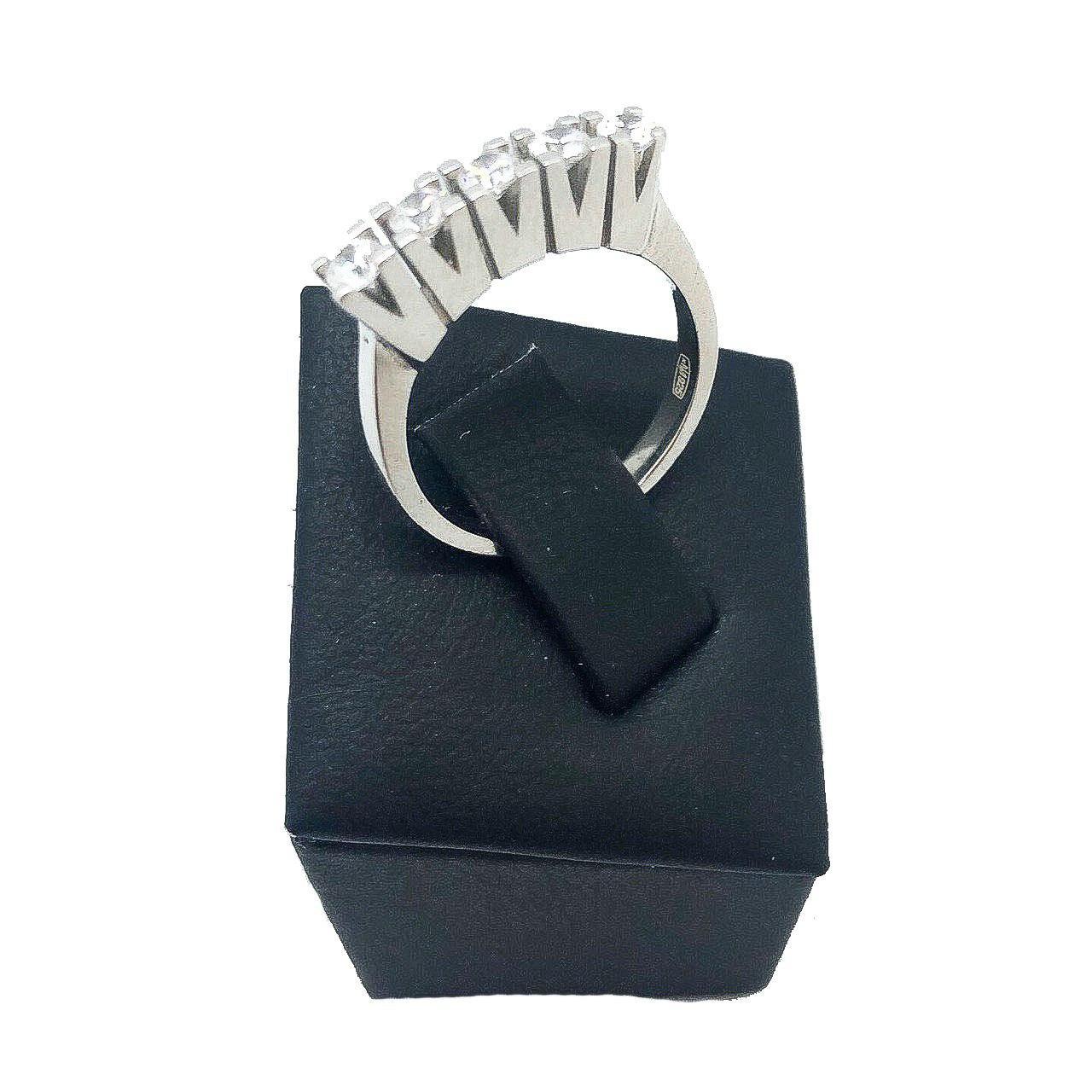 Кольцо Beauty Bar из серебра с камнями Swarovski, тренд: самая новая модель (размеры 16,5 и 17)