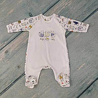 Человечек для новорожденного мальчика (интерлок), р. 56