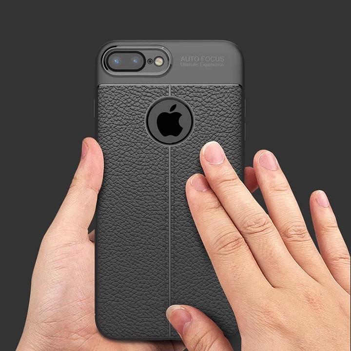 Чехол кожаный для Iphone 7 / 8  ультратонкий черный