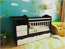 Детская кроватка для новорожденного ДМ-043