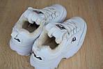 Зимові кросівки Fila disruptor 2 з хутром (білі) - Унісекс, фото 3