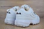 Зимові кросівки Fila disruptor 2 з хутром (білі) - Унісекс, фото 5