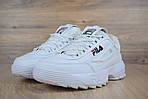 Зимові кросівки Fila disruptor 2 з хутром (білі) - Унісекс, фото 7