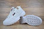 Зимові кросівки Fila disruptor 2 з хутром (білі) - Унісекс, фото 8