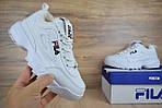 Зимові кросівки Fila disruptor 2 з хутром (білі) - Унісекс, фото 9