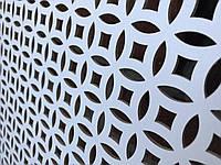 """Панель декоративная перфорированная """"Элит"""", 1390 мм х 680 мм, цвет белый"""