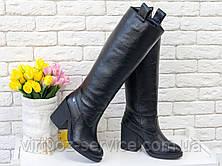 Сапоги женские Gino Figini М-17356-14 из натуральной кожи 40 Черный, фото 3