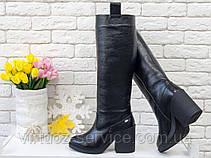 Сапоги женские Gino Figini М-17356-14 из натуральной кожи 40 Черный, фото 2