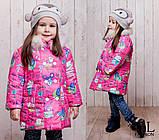 Детская куртка весна/осень на синтипоне 150 +натур.мех 98-122рост(3расцв.), фото 3