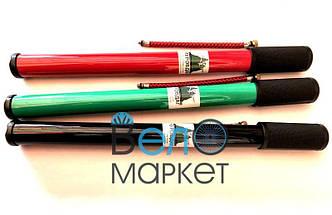 Насос велосипедный пластиковый толстый длинный, Ф30 х 400 мм., черный, зеленый, красный (1 штука)