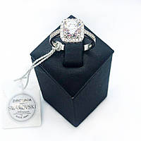 Кольцо Beauty Bar из серебра с камнями Swarovski (размеры 17 и 17,5), фото 1