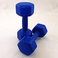 Гантели для фитнеса пластиковые цельные (неразборные) OSPORT Profi 2 кг (MS 2938)