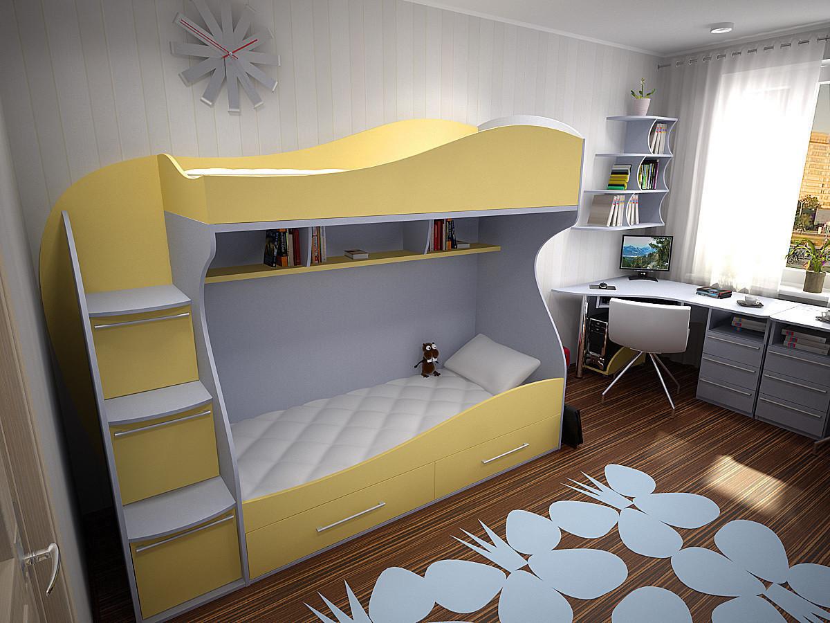 """Дитяча двох'ярусна ліжко горище дм147 """"Ріо"""""""