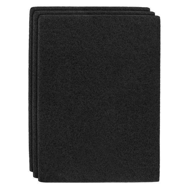 Лист - нетканий абразивний матеріал 152 x 229мм KORUND NPA400 чорний (середній)