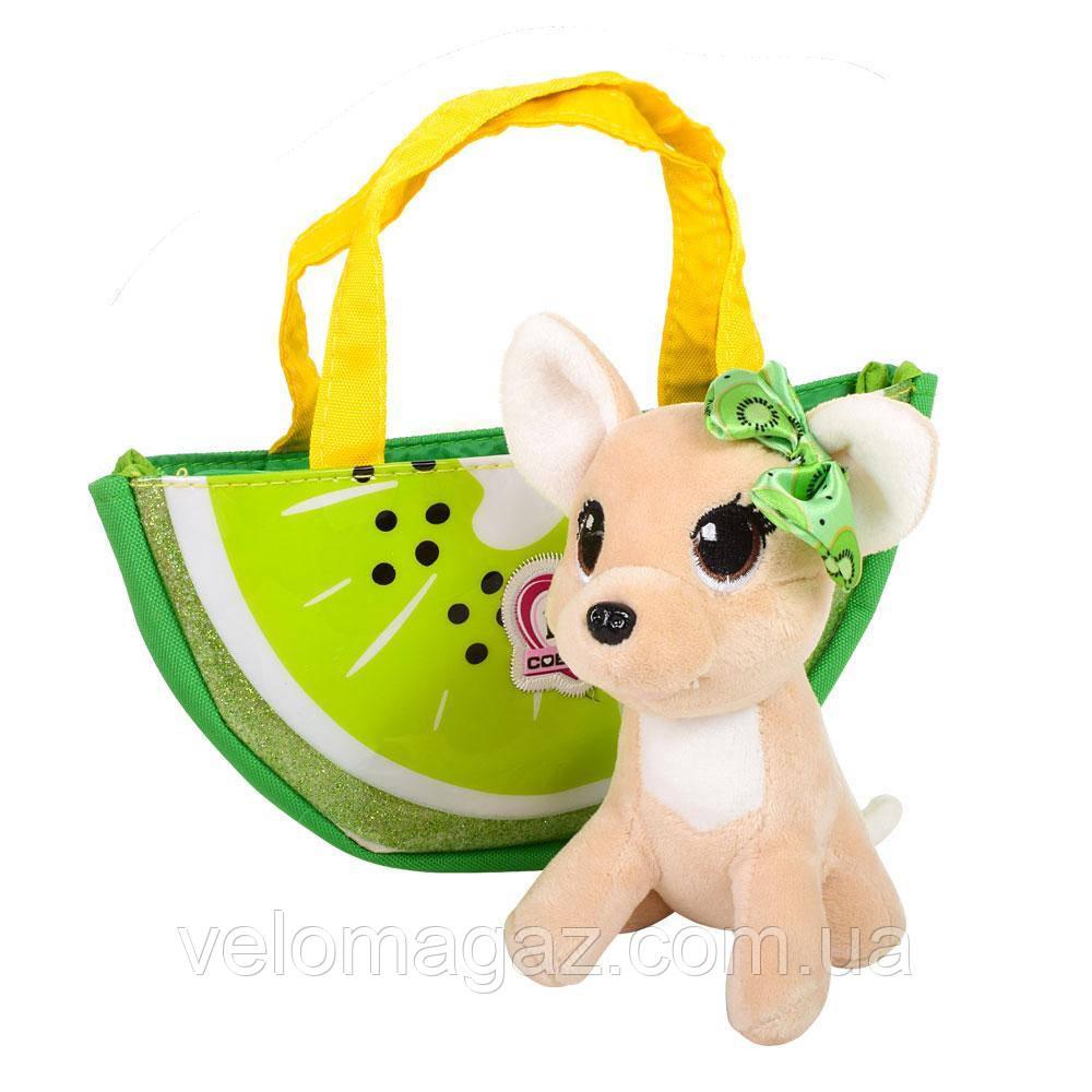 Собачка Кикки в сумочке, интерактивная игрушка 16 см, M 3697
