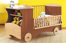 """Кроватка детская для младенца """"Машинка"""" дм 022"""