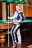 """Утепленный женский костюм """"Мейди"""" (серый меланж+темно-синий)"""