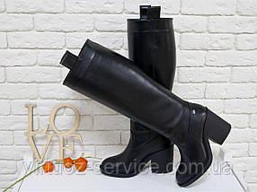 Сапоги женские Gino Figini М-17356-01 из натуральной кожи 38 Черный, фото 2