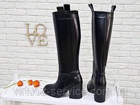 Сапоги женские Gino Figini М-17356-01 из натуральной кожи 38 Черный, фото 3